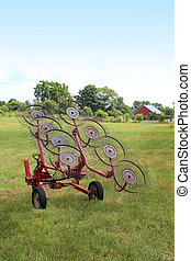 Hay Rake in Field