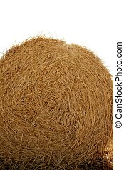 Hay round bale of dried wheat cereal - Hay round bale of...