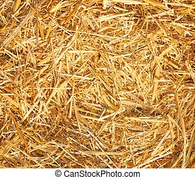 Hay-Straw as a background