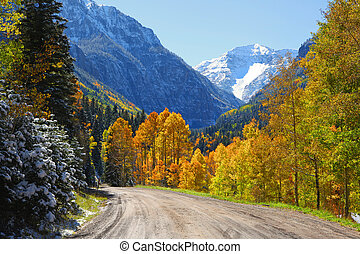 View of Hayden mountain from back road 361 in Colorado