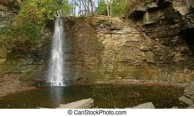 Hayden Run Waterfall with Falling Leaves Loop