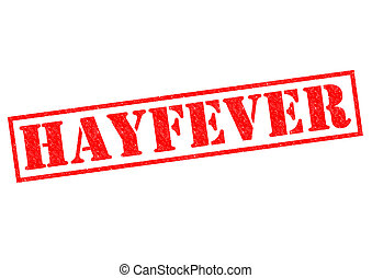 HAYFEVER red Rubber Stamp over a white background.