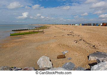 Hayling Island beach south coast of England UK - Hayling...