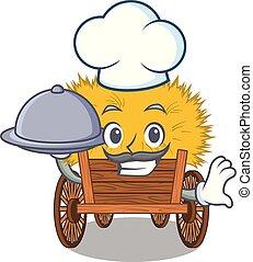 hayride, alimento, cozinheiro, gaveta, brinquedo, caricatura