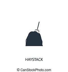 Haystack icon. Simple gardening element illustration. Vector...