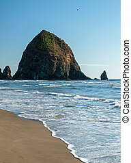 Haystack Rock at Cannon Beach Oregon USA