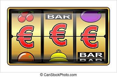 hazárdjáték, ábra, euro