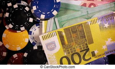 hazárdjátékot játszik kicsorbít, pénz
