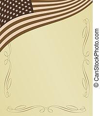 hazafias, amerikai, háttér