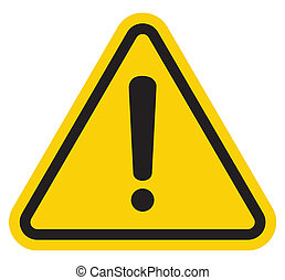 hazard, advarsel, opmærksomhed, tegn