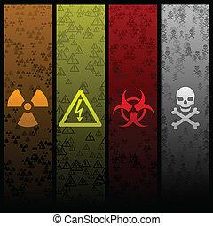 hazard banners