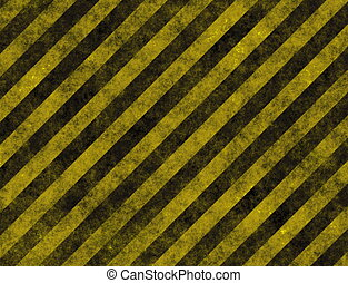 Hazard Danger Background Texture With Common Black and...