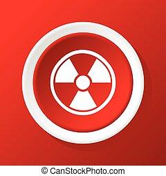 Hazard icon on red