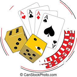 hazard, ilustracja