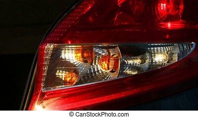 Hazard lights on a car