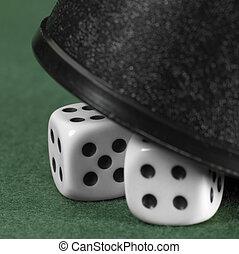 hazard, napięcie, z, ukryty, jarzyna pokrajana w kostkę