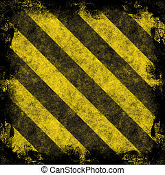 Hazard Stripes - A diagonal hazard stripes frame. The ...