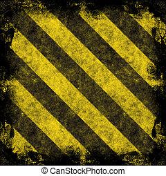 Hazard Stripes - A diagonal hazard stripes frame. The ...