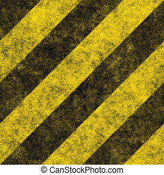 A diagonal hazard stripes texture. These are weathered, worn and grunge-looking. This tiles seamlessly as a pattern - fully tileable in any direction.