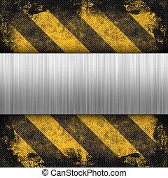 Hazard Stripes Brushed Metal