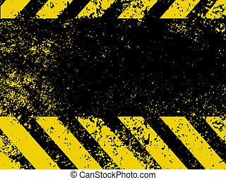 Hazard stripes in Grunge style. EPS 8