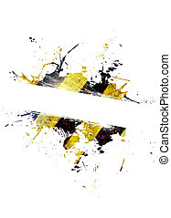 Hazard Stripes Splatter - A hazard stripes paint splatter...