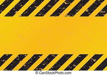 Hazard Stripes Vector - A grungy and worn hazard stripes ...