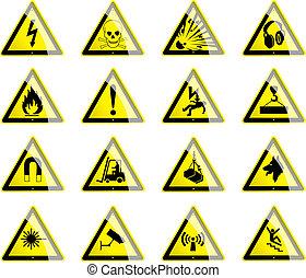 Hazard Symbols - Symbols displaying hazard and danger signs