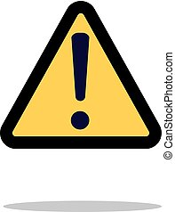 Hazard warning attention sign with exclamation mark symbol icon vector illustration