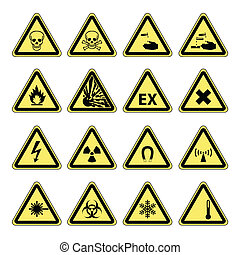 Hazard warning, health & safety and public information signs...