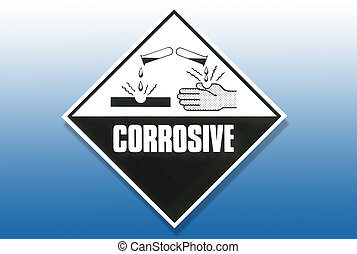 Hazard Warning Sign - Corrosive substances