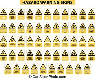 hazard warning signs