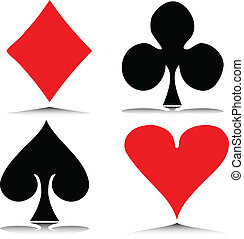 hazard, wektor, ilustracja