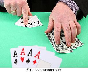 hazard, zwycięstwo, i, zgubić