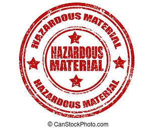 hazardní, material-stamp