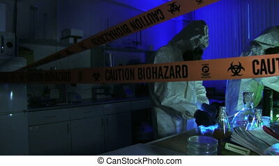 Hazardous Laboratory With Scientists