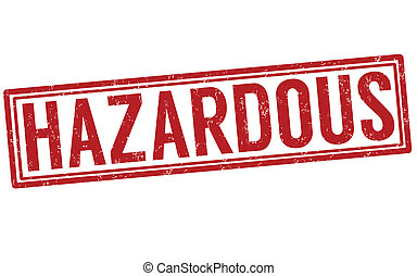 Hazardous grunge rubber stamp on white, vector illustration