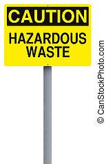 Hazardous Waste - A caution sign indicating Hazardous Waste...