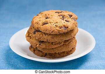Hazelnut and chocolate cookies