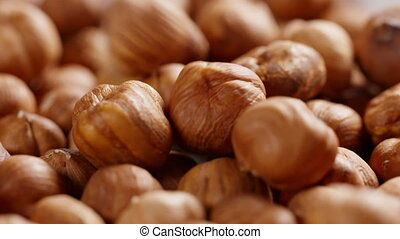 hazelnut falling in 180fps slow motion, prores footage