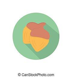 hazelnut  flat color icon