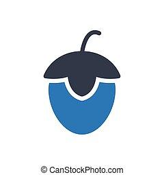 hazelnut  glyph color icon