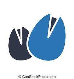 hazelnut glyph color vector icon
