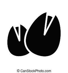 hazelnut glyph flat vector icon