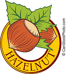 hazelnut label (hazelnut symbol, hazelnut sign)