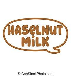 Hazelnut Milk - logo. vector element for labels, logos, ...