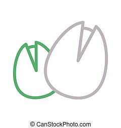 hazelnut thin color line ector icon