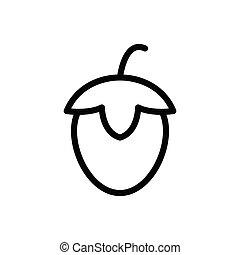 hazelnut  thin line icon