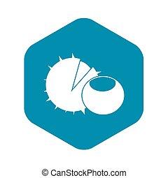Hazelnuts icon, simple style