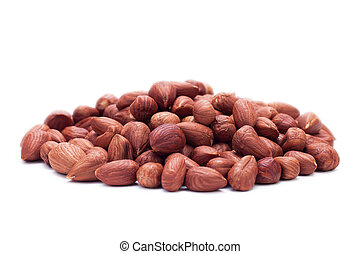 hazelnuts isolated on the white background